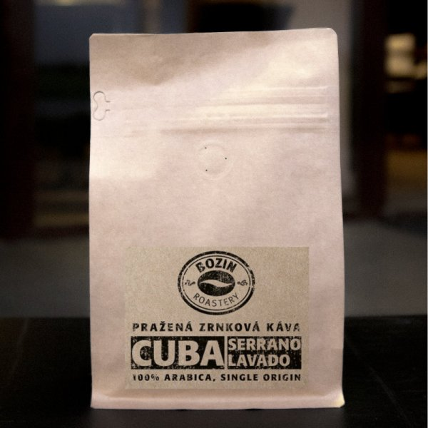 Prazena zrnkova kava - Cuba Serrano Lavado single origin arabica