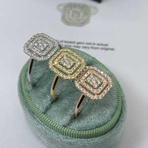 Kiki cluster natural diamond engagement ring