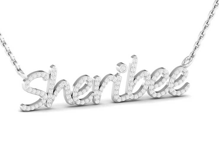 Luxury gift Ideas: Natural Diamond Personalized Name Necklace and Pendants
