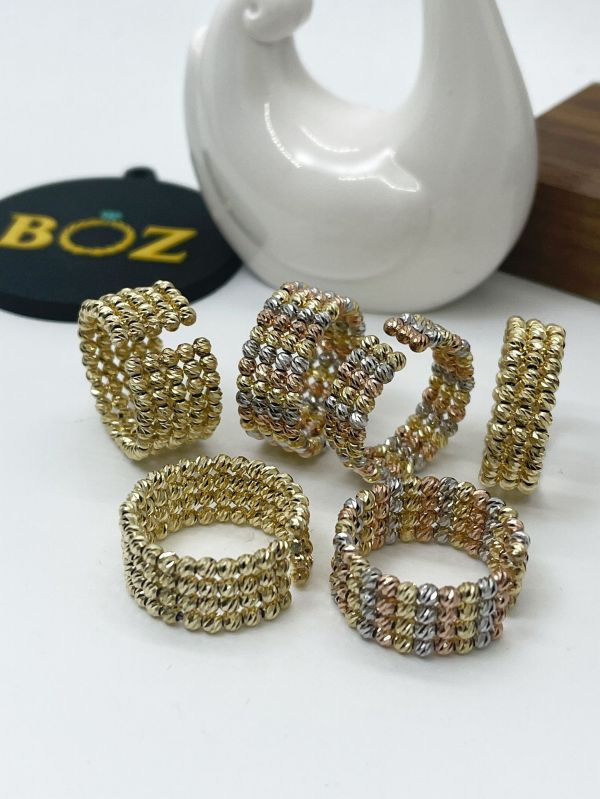 18karat gold adjustable bead rings