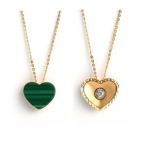 Dual Natural diamond-malachite heart