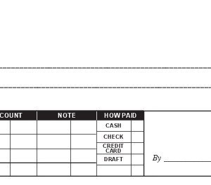 464-r1503 Receipt Book Blank