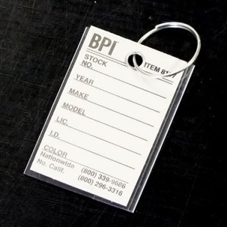 Plastic Cover Key Tags