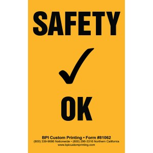 Safety Check OK Sticker
