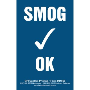 Smog Check OK Sticker