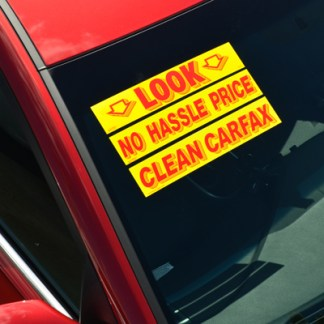 Windshield Slogan Stickers