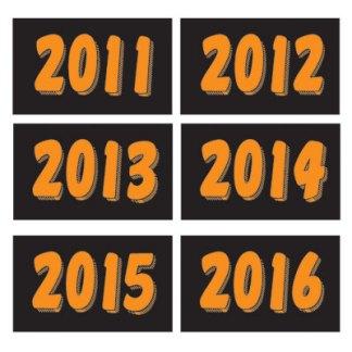 Year Windshield Stickers