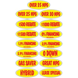 Oval Incentive Windshield Stickers