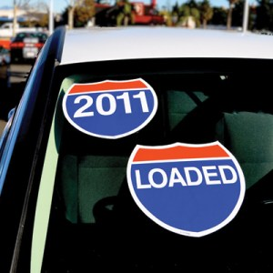 Highway Slogan Windshield Stickers