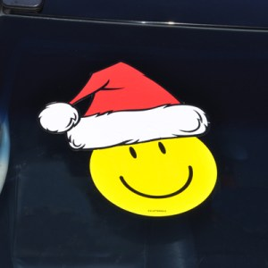 Santa Hat Windshield Sticker