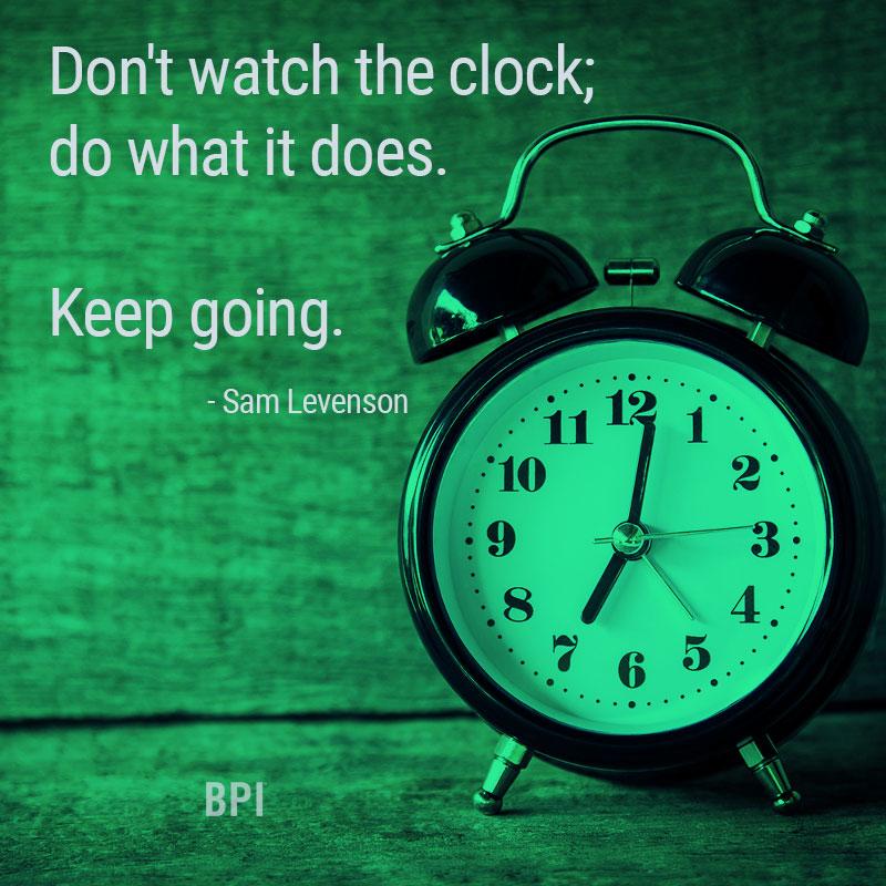 BPI Motivational Monday - Keep Going!