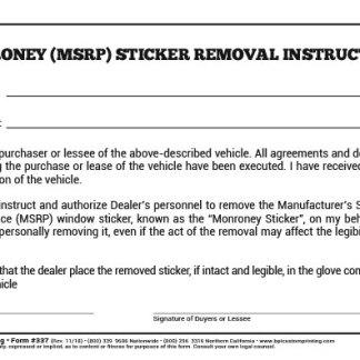Vehicle Registration Control Log Book Bpi Dealer Supplies