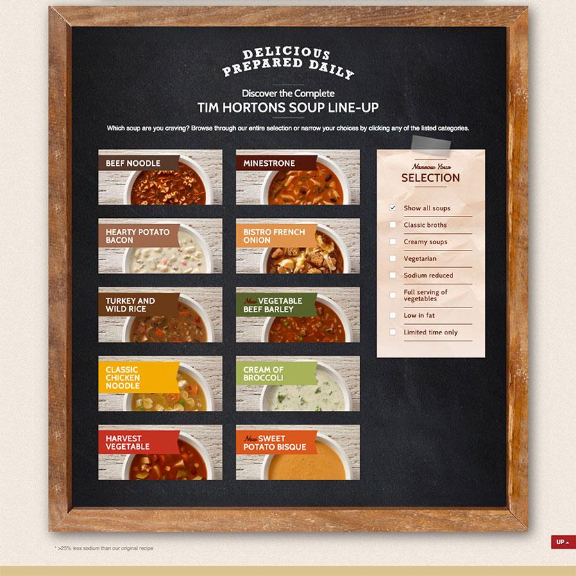 Food Photography for Tim Hortons Soup Rotation Program