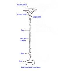 Torchiere Lamp Part Index