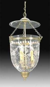19th Century Hall Lantern with Floral Foliate design ...