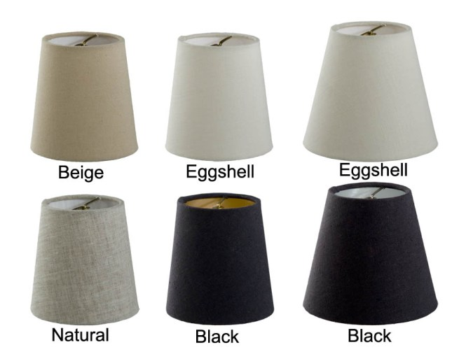 00695e Chandelier Shade Mini Empire Hardback Fine Linen