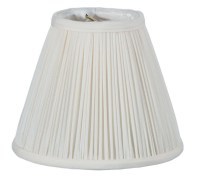 Off White Shantung Silk Pencil Pleat Empire Mini Shade