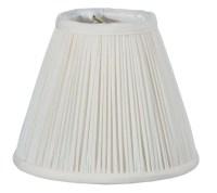 Off White Shantung Silk Pencil Pleat Empire Mini Shade