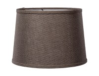 Charcoal Brown Burlap Deep Drum Hardback Lampshades 07224S