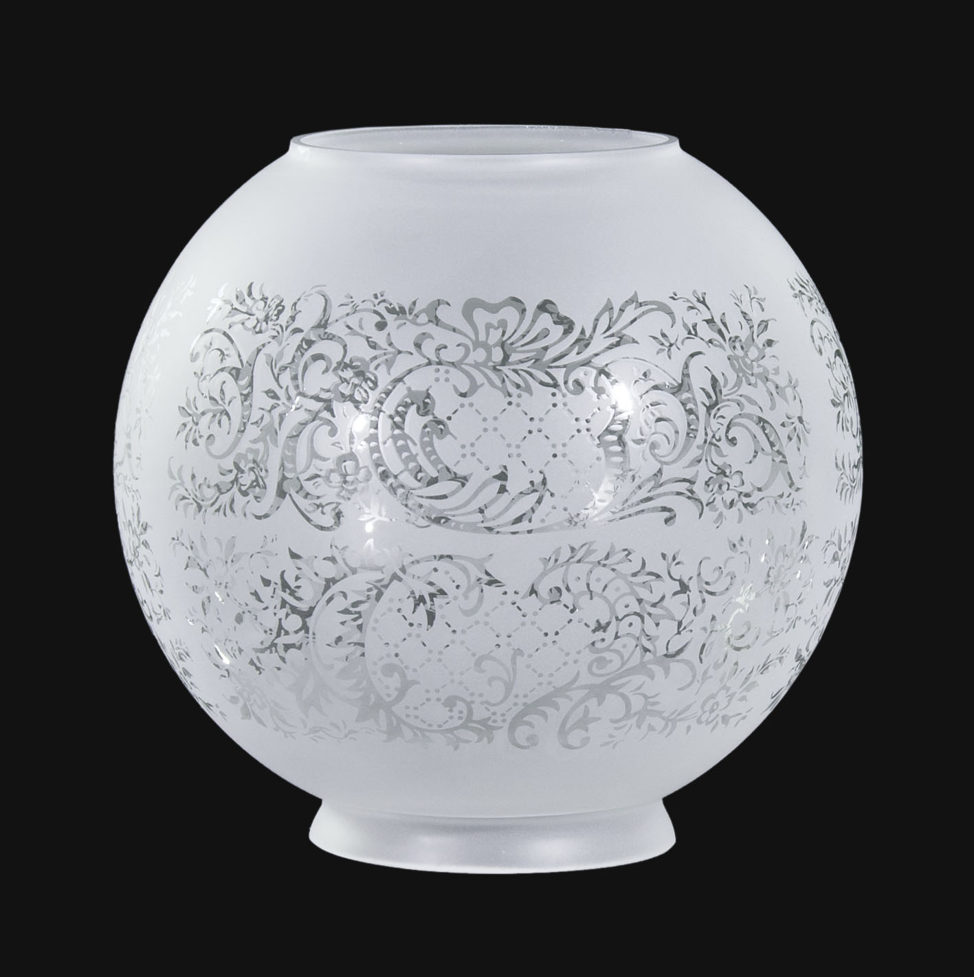 8 Satin Etched Ball Shade Floral Scene 08503i  BP Lamp