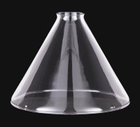 9 Clear Glass Deep Cone Shade, 2 1/4 fitter 08808C | B&P ...