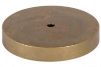 Round Unfinished Cast Brass Lamp Base 10042U | B&P Lamp Supply