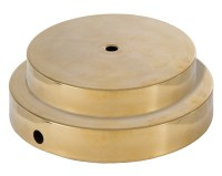 Spun Brass Lamp Base no Wire Hole 10050A