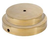 Spun Brass Lamp Base no Wire Hole 10050A | B&P Lamp Supply