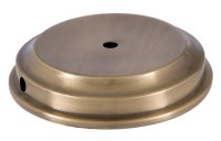 Antique Finish Flaired Disc Solid Brass Lamp Base 10053A ...