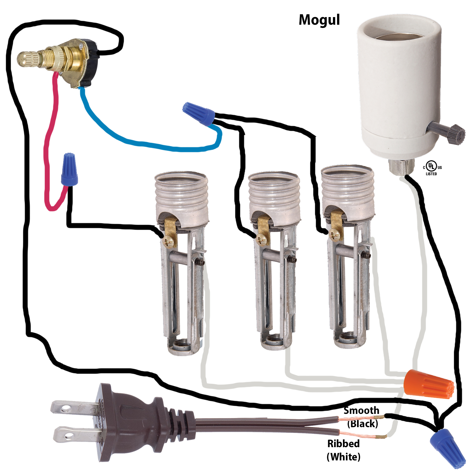 rotary switch wiring diagram chrysler sebring diagrams two circuit 40402i b p lamp supply with brass tone knob and 6 18 ga wire leads rated 3a 125 t u l csa instructions for