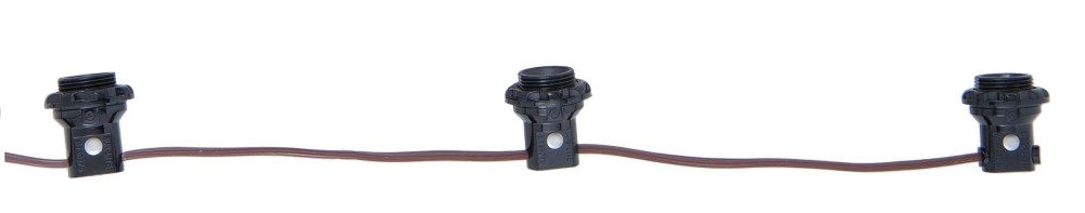 medium resolution of 3 light phenolic e12 candelabra lamp socket harness set each w shoulder detachable phenolic ring 18 tail 6 centers 18 2 spt 1 brown 105c leads