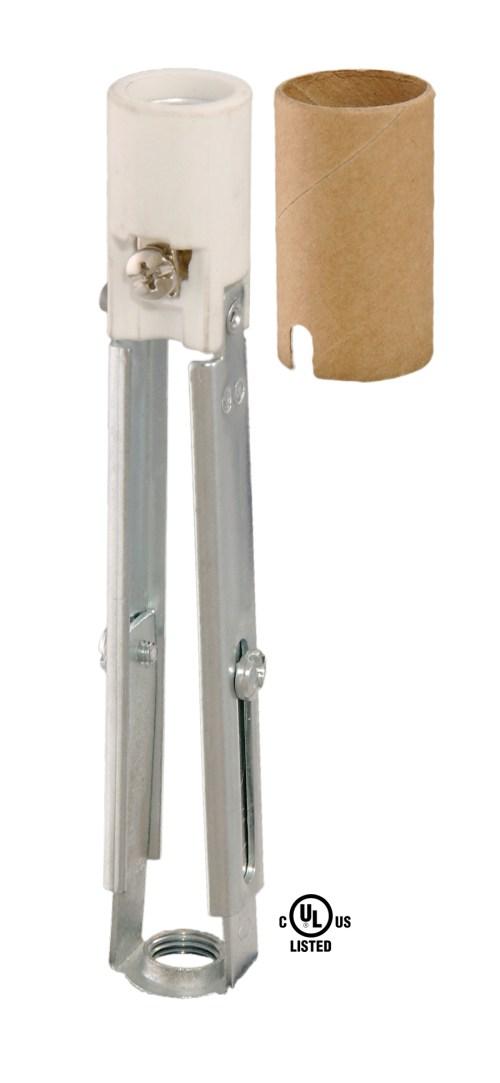 small resolution of 48318 keyless porcelain adjustable candelabra candle socket
