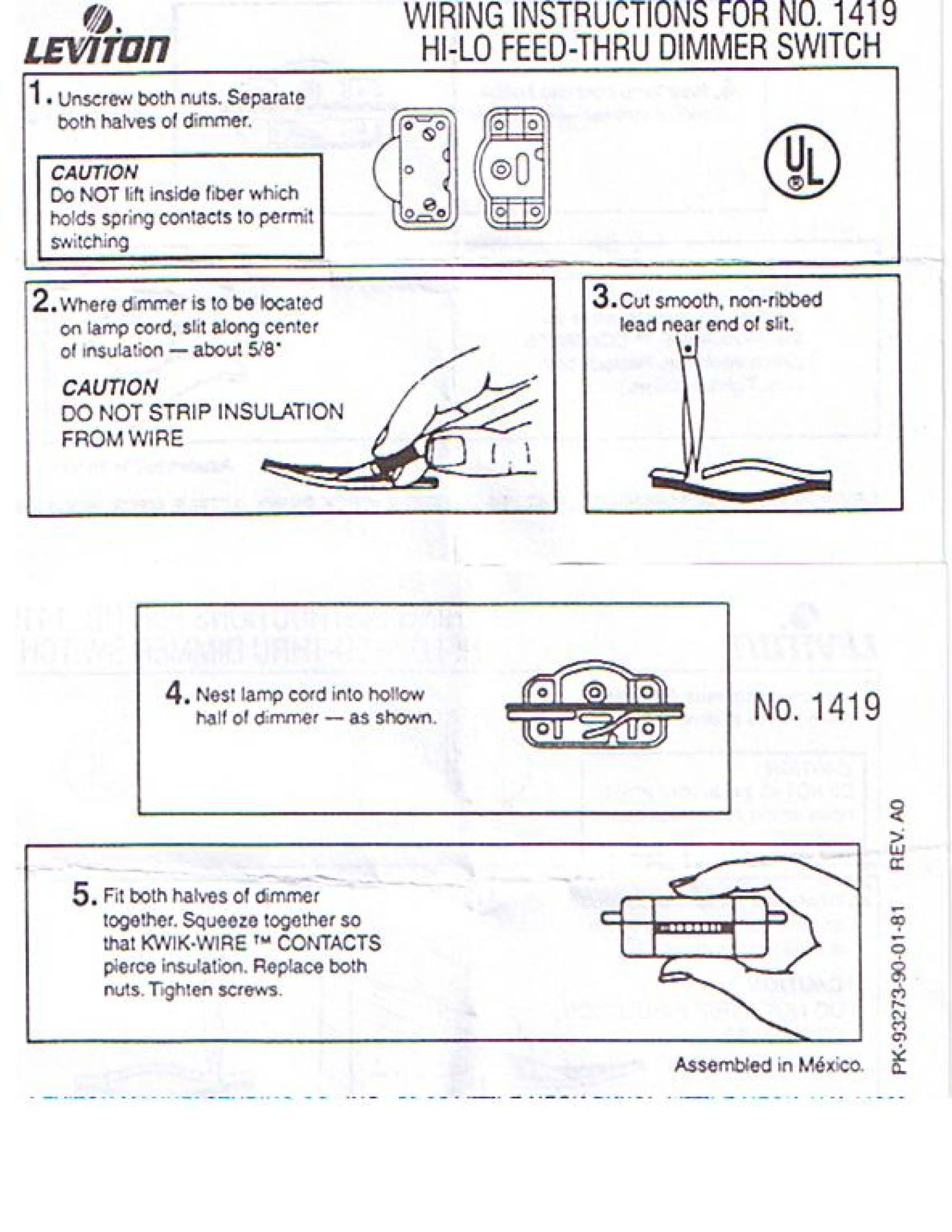 hight resolution of rotary on off lamp cord switch t rated neat easy to install no stripping of wires u l csa leviton brand find wiring instructions here