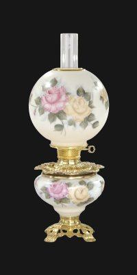 Hand Painted Duet Design Parlor Lamp 69197C | B&P Lamp Supply