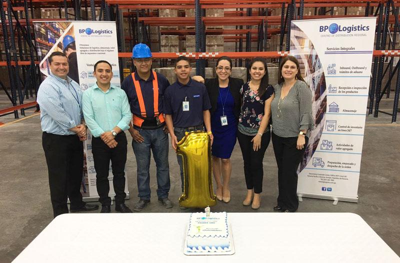 Equipo de BP Logistics en el primer aniversario de operaciones