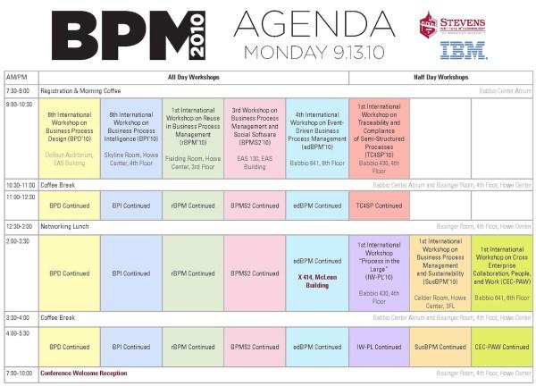 BPM 2010 Workshop Schedule