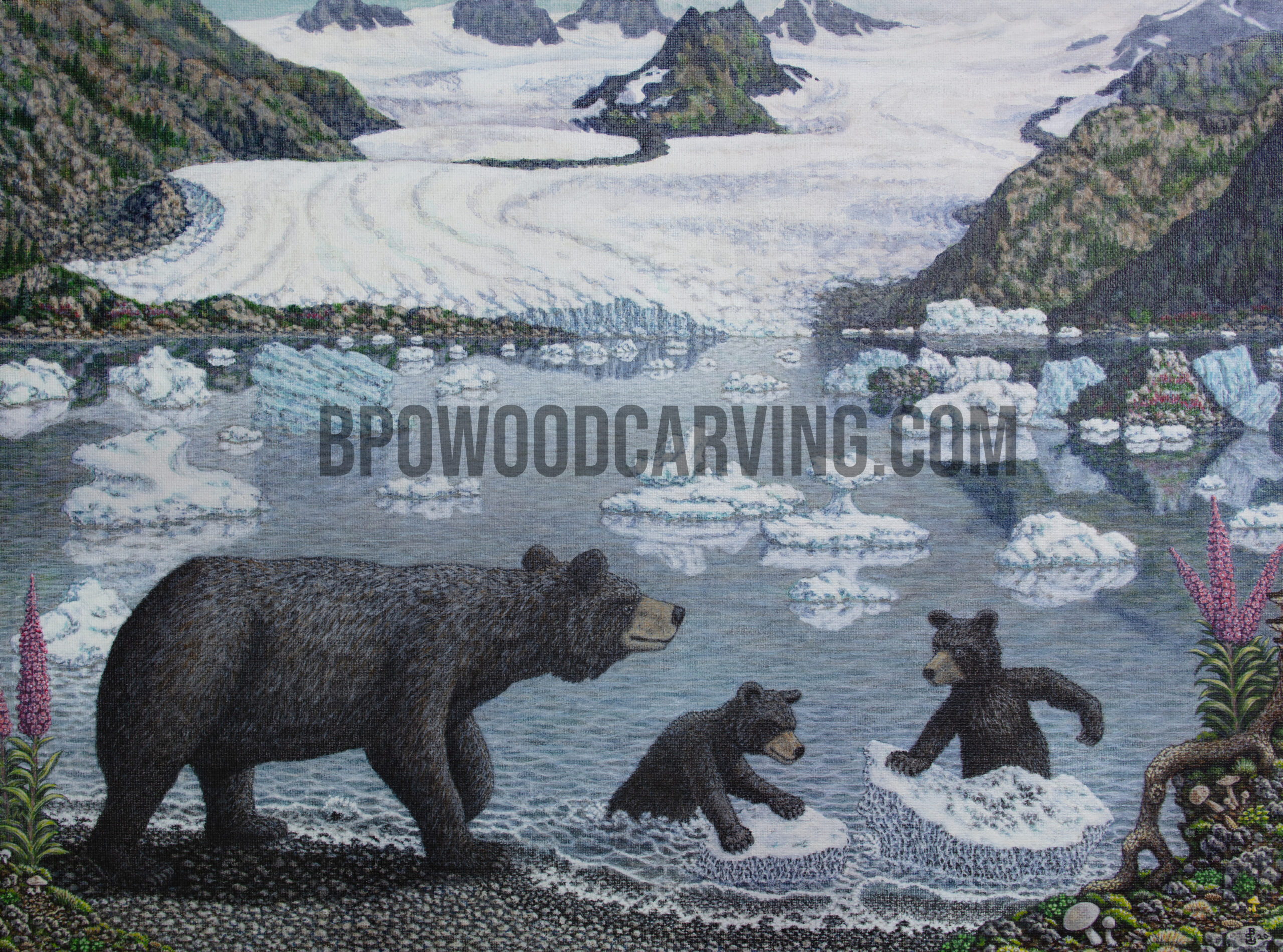Limited edition canvas print of Alaskan Playground