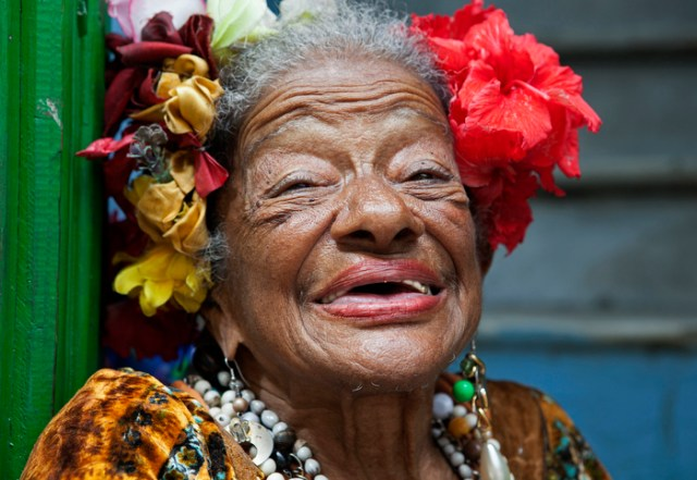 March 24, 2013- A local woman smiles in Old Havana, Cuba on Sunday. .