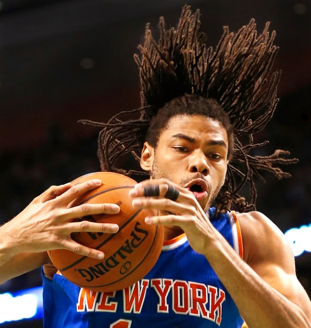 New York Knicks' Chris Copeland grabs a rebound during the fourth quarter of New York's 100-85 win over the Boston Celtics in a NBA basketball game in Boston Tuesday, March 26, 2013.