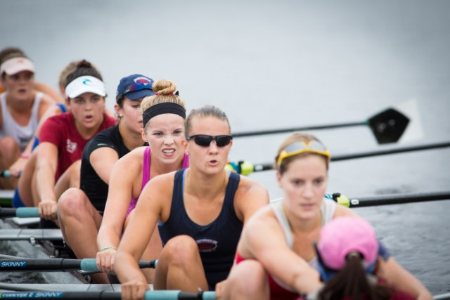 Radcliffe Women's Heavyweight Crew Roster last practice on water before the Head of the Charles Regatta 2014. By Ann Wang