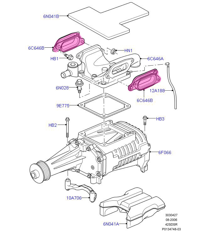 Range Rover Sport Supercharged Genuine OEM Supercharger to