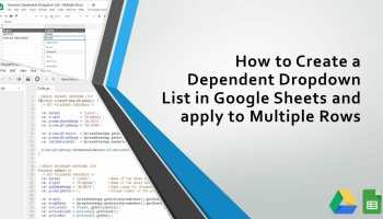 How to Create a Dependent Drop-Down List in Google Sheets