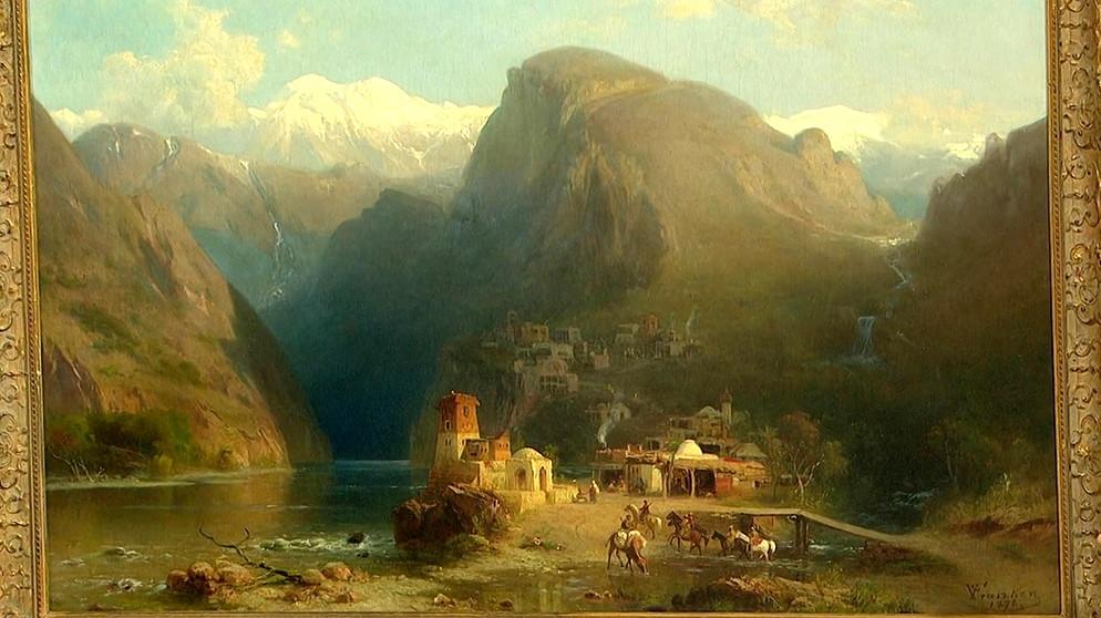 Kaukasische Landschaft Ausflug ins Exotische  Gemlde