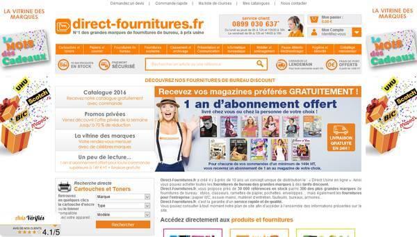 Direct Fournitures : vente de fournitures de bureau