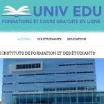 Univ-edu : portail dédié aux étudiants et aux professionnels en formation continue