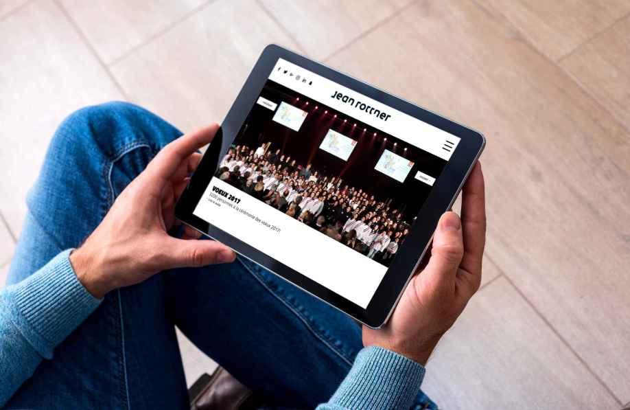 Un blog web d'un politique par l'agence MARS ROUGE à Neuchâtel