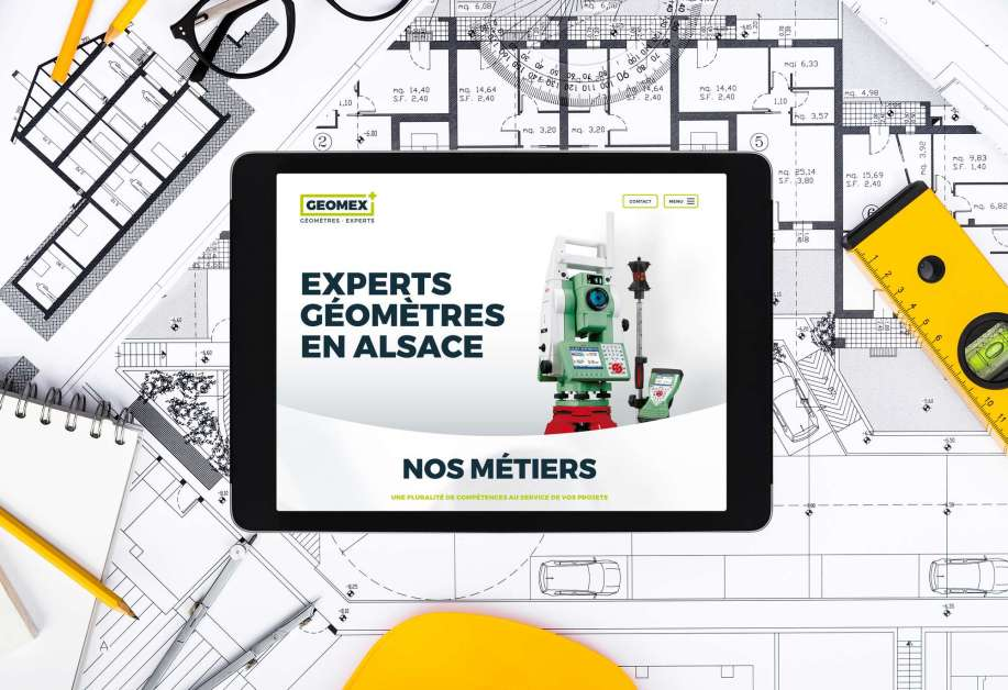 Un site internet d'un géomètre par l'agence MARS ROUGE à Neuchâtel