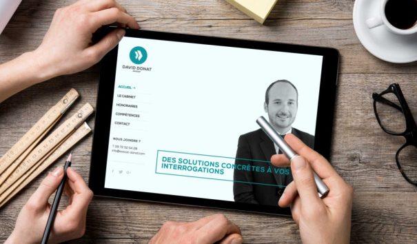 Le site internet du cabinet d'avocat est conçu en responsive webdesign.