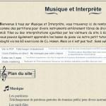 Musique et Interprète : Partitions libres de droit