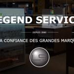 Legend Services : installation de supports publicitaires sur lieu de vente